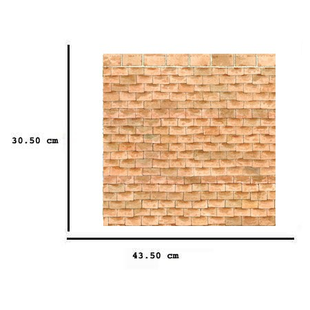 Jh41 - Paper decorated with bricks