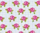 Mn1003 - Papel rayas azules con rosas