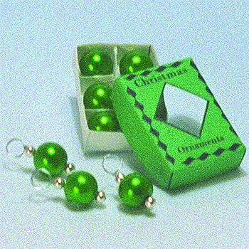 Nv0051 - Grüne Weihnachtskugeln