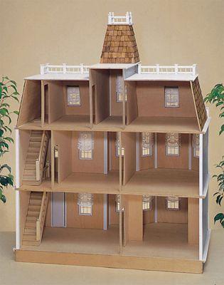 Case delle bambole rg002 casa newport di mattoni in kit for Costi di costruzione casa di mattoni