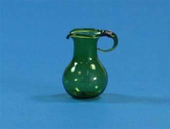Tc0943 - Brocca di cristallo verde