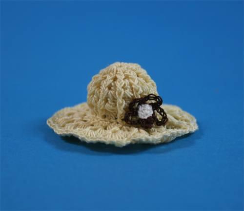 Tc1356 - Bonnet de laine jaune