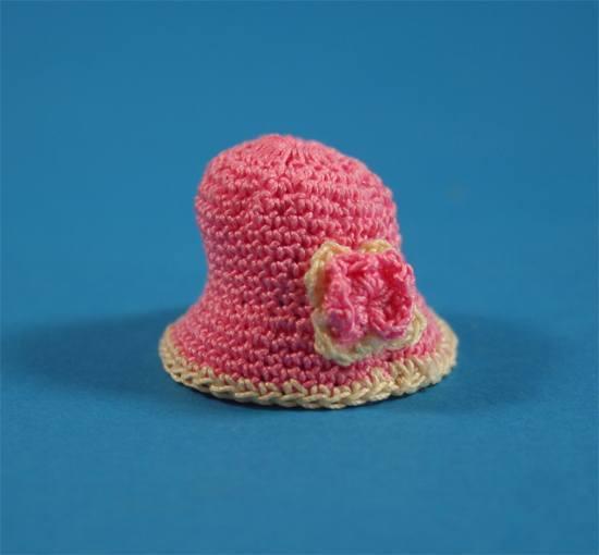 Tc1279 - Bonnet de laine rose