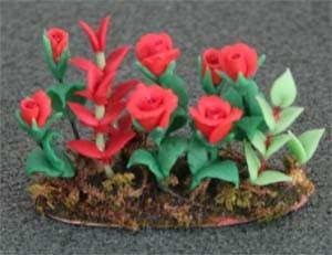 Tc1354 - Planta con rosas