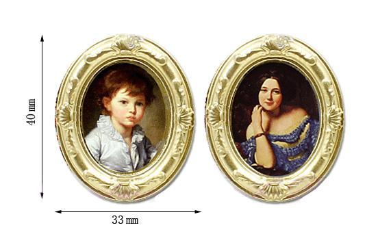 Tc1455 - Dos cuadros ovalados peq