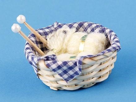 Tc1477 - Cesta con lanas