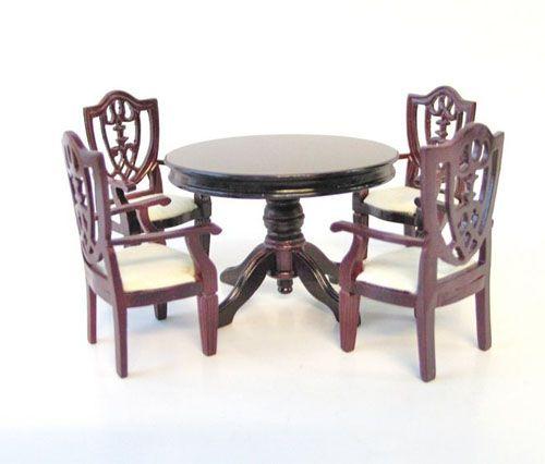 Tienda de casitas vg23150 mesa redonda con 4 sillas - Mesa redonda con sillas ...