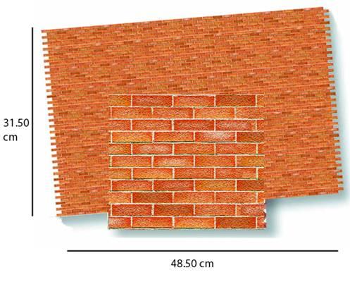 Tienda de casitas - Wm34977 - Papel ladrillos