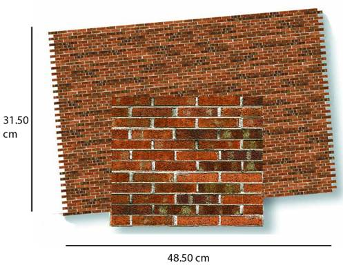 Wm34978 - Papier dunkler Ziegelstein